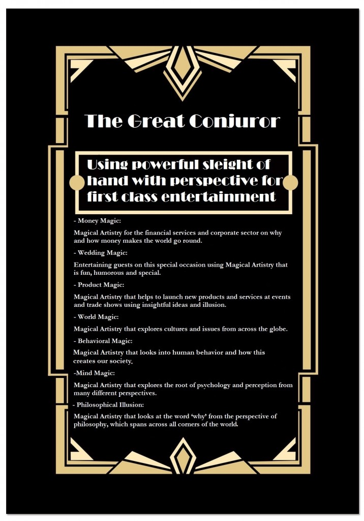 International Award-Winning Entertainment for Corporate, Wedding and Private Parties